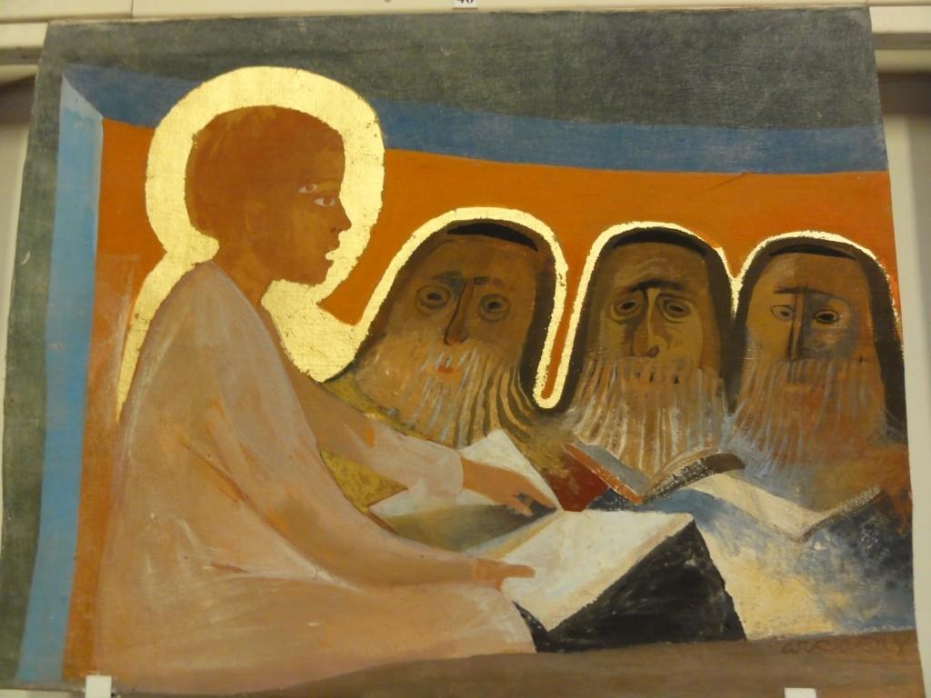 Jésus au milieu des docteurs de la Loi au Temple de Jérusalem [Arcabas]